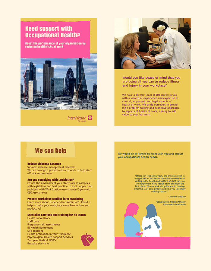 Occ health leaflet layout